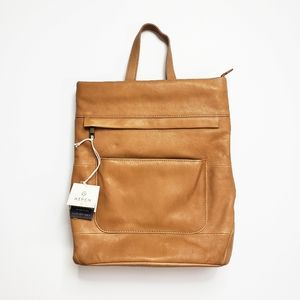 NWT Aspen Brown Leather Convertible Backpack